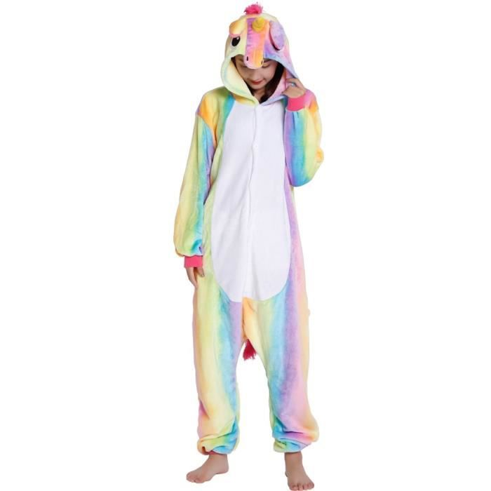 kigurumi pyjama licorne adulte arc en ciel d guisement pyjama licorne grenoulli re femme cosplay. Black Bedroom Furniture Sets. Home Design Ideas