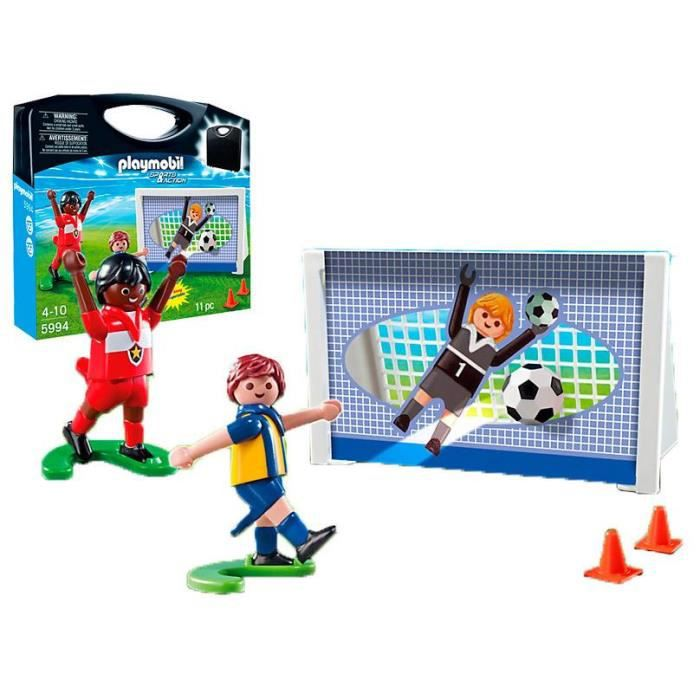 juniors figurines playmobil  mallette football transportable f pla