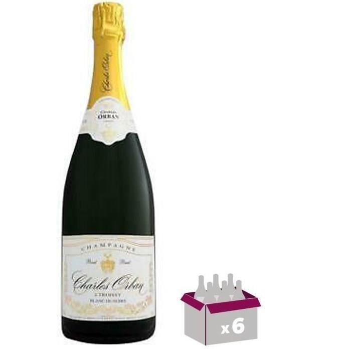CHARLES DE CAZANOVE Champagne Brut Azur - 75 cl x6