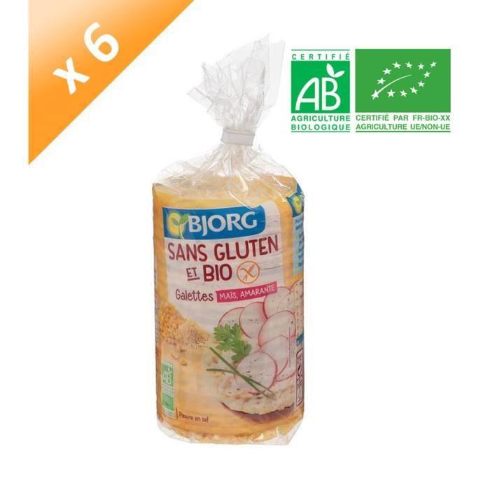 BJORG Galettes Maïs, Amarante Sans Gluten Bio - 150 g x6