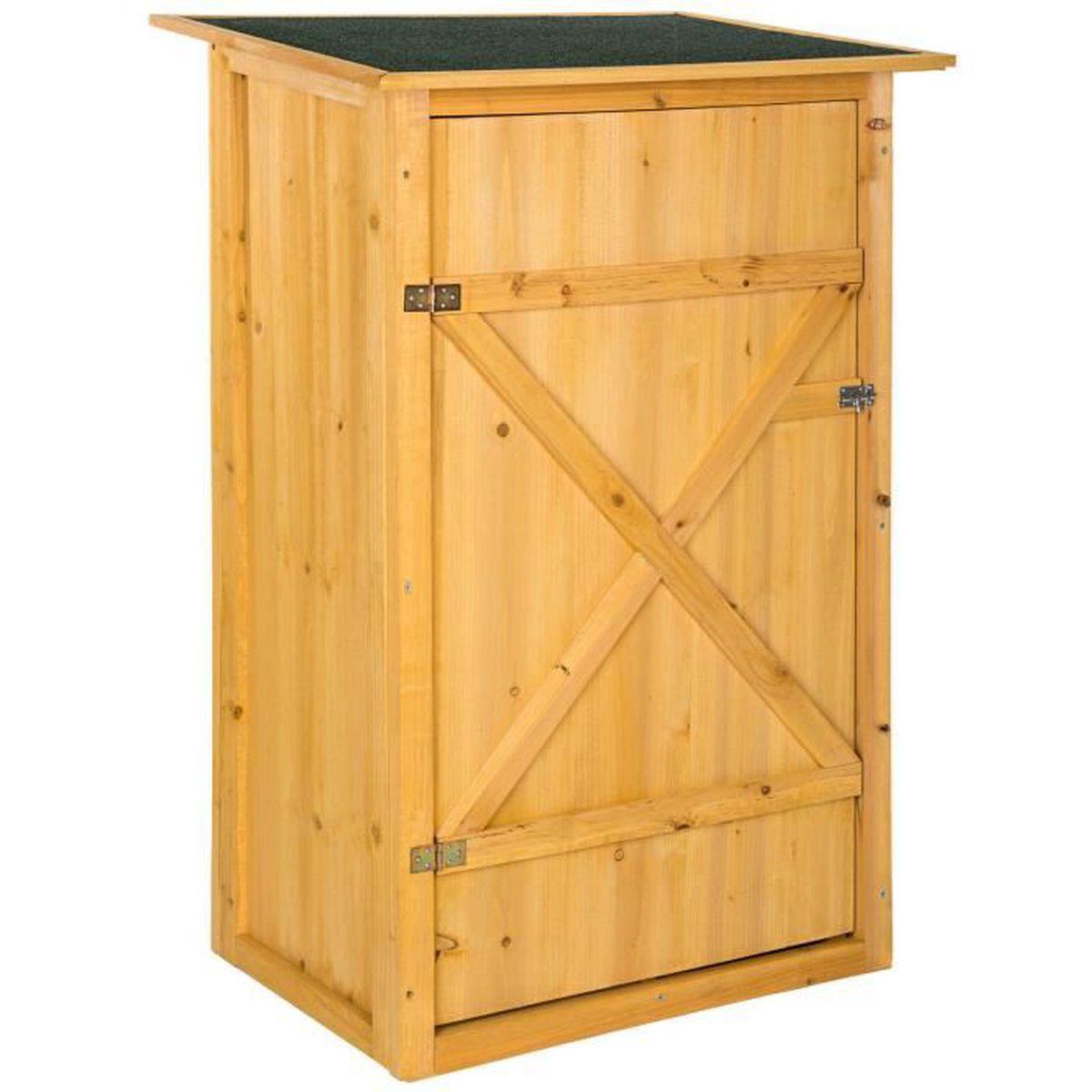 Cabane À Outils Bois armoire de jardin remise pour outils abri atelier bois toit