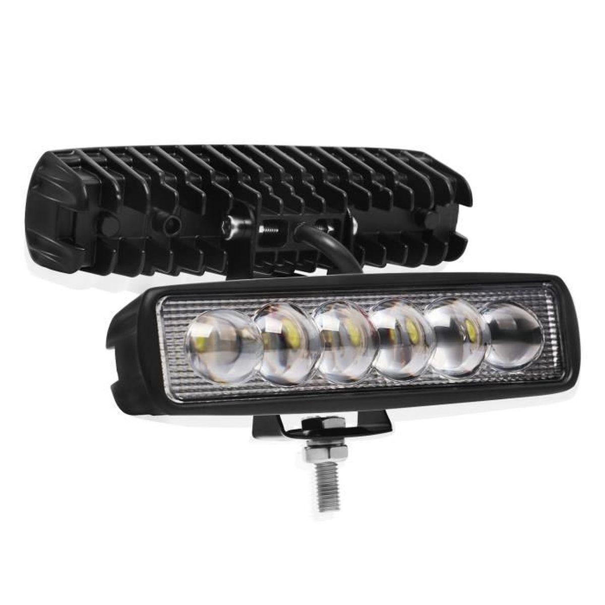 2 pièces 12W 12V-24V lampe de travail de voiture LED lampe étanche