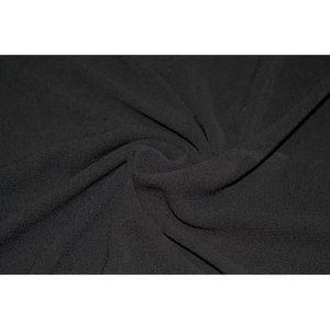 TISSU Tissu Crêpe Marocain Noir -Au Mètre