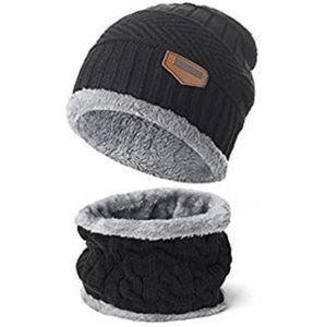 BONNET - CAGOULE 2 Pcs : 1 BONNET + 1 TOUR de COU écharpe tricot ch