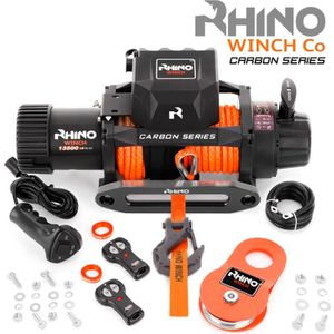 TREUIL AUTO Rhino Treuil Électrique sans fil Carbon Series 12v