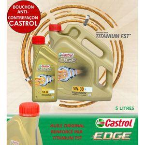 HUILE MOTEUR 5 LITRES CASTROL EDGE 5W30 LONGLIFE TITANIUM FST