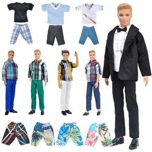 ACCESSOIRE POUPÉE E-TING 10 articles = 5 ensembles de vêtements de m