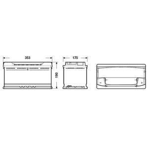 BATTERIE VÉHICULE FULMEN Batterie auto XTREME FA1000 (+ droite) 12V