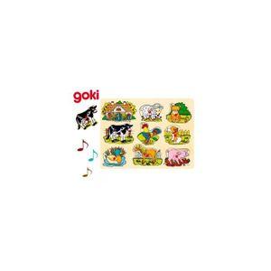 PUZZLE Puzzle avec voix d'animaux de la ferme Goki