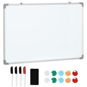 TABLEAU - PAPERBOARD Tableau blanc aimante magnetique cadre aluminium 9