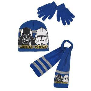 ECHARPE - FOULARD Ensemble STAR WARS bonnet gants écharpe enfant gar