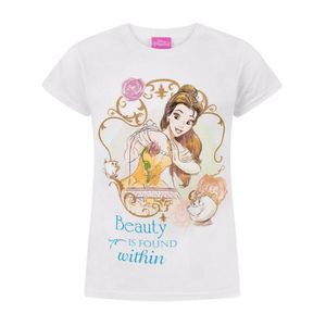 Other Disney T-shirt Belle Princesse 3 4 5 6 Ans La Belle Et La Bête Rose Neuf