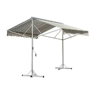 STORE - STORE BANNE  Store Double Pente - Multi-Rayures - 3,5m