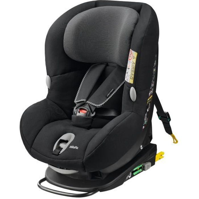 bebe confort si ge autogroupe 0 1 milofix isofix black raven 2015 achat vente si ge auto. Black Bedroom Furniture Sets. Home Design Ideas