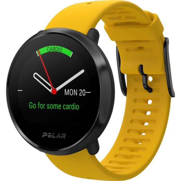 POLAR Ignite Montre Multisports Connectée - Jaune - Taille M/L