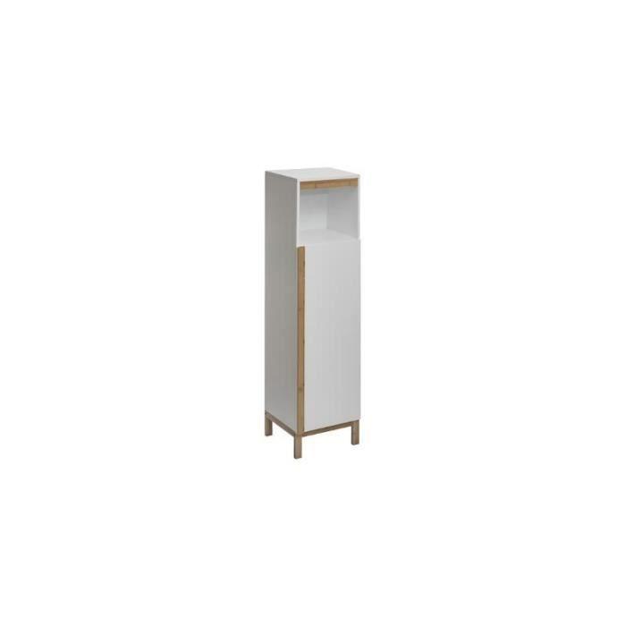 Colonne de salle de bain - Lea - 32 x 30,5 x 118,5 cm Blanc