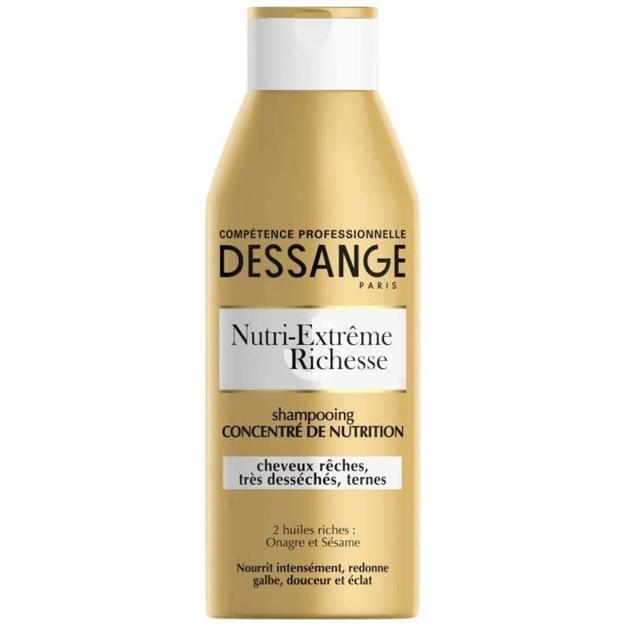 DESSANGE - Nutri-Extrême Richesse Shampooing Concentré de Nutrition Pour Cheveux Rêches, Très Desséchés ou Ternes - 250 ml