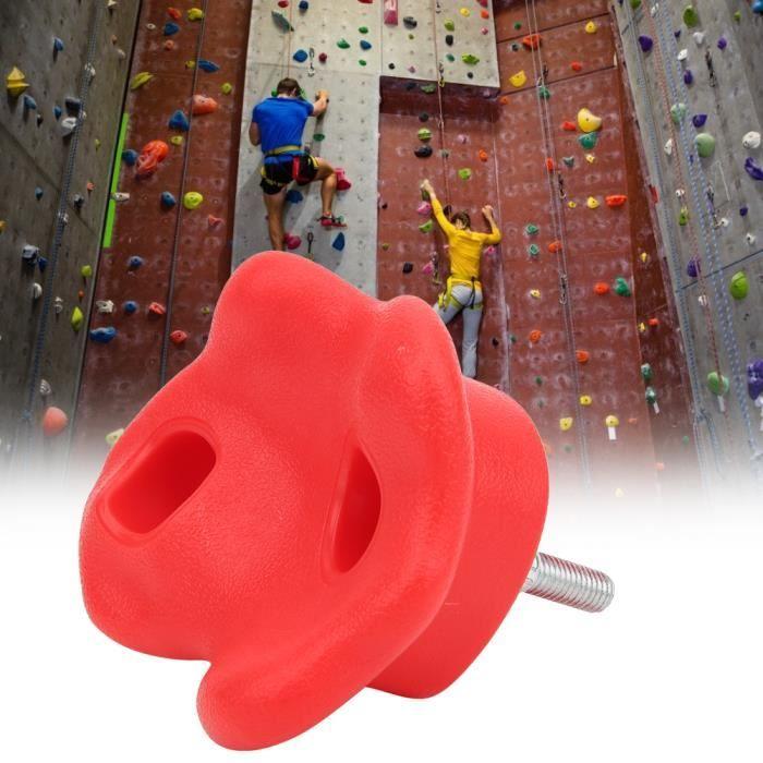 PUY 10 pcs Prises d'escalade Kids Rock Climbing détient accessoires de mur(rouge)