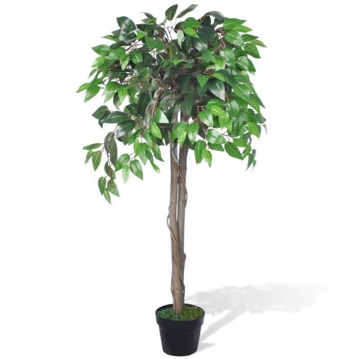 Palmier Artificiel Plastique 110 cm- Plante Arbre Artificiel décoration Jardin Décoration pour Intérieur et Extérieur-avec Pot♕5043