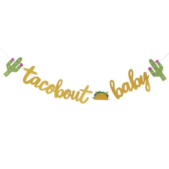 1 ensemble de bannière de papier sur le thème hawaïen Taco drapeau de tirage VERRE A BIERE - CHOPE A BIERE - BOLEE A CIDRE