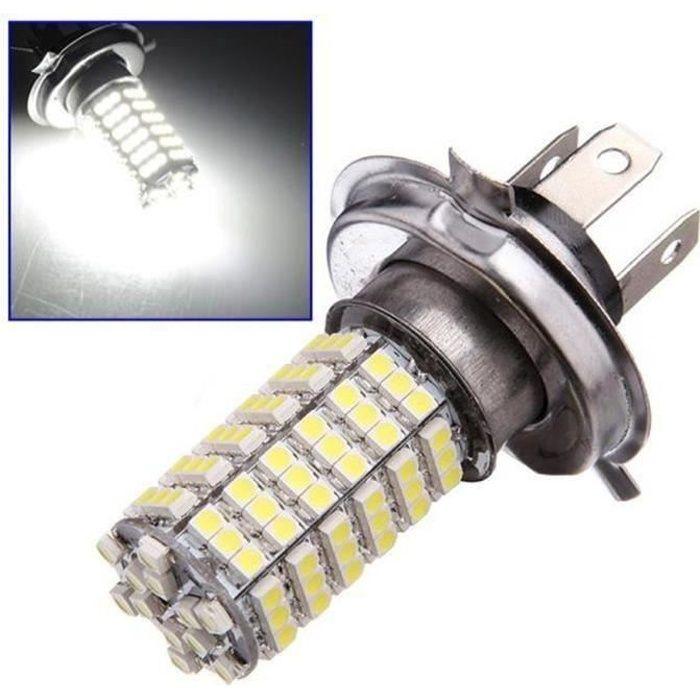 2x H4 120 LED Ampoule Voiture Lampe 3528 SMD Conduire Lumière FEUX DE JOUR Blanc 12V Bo42226