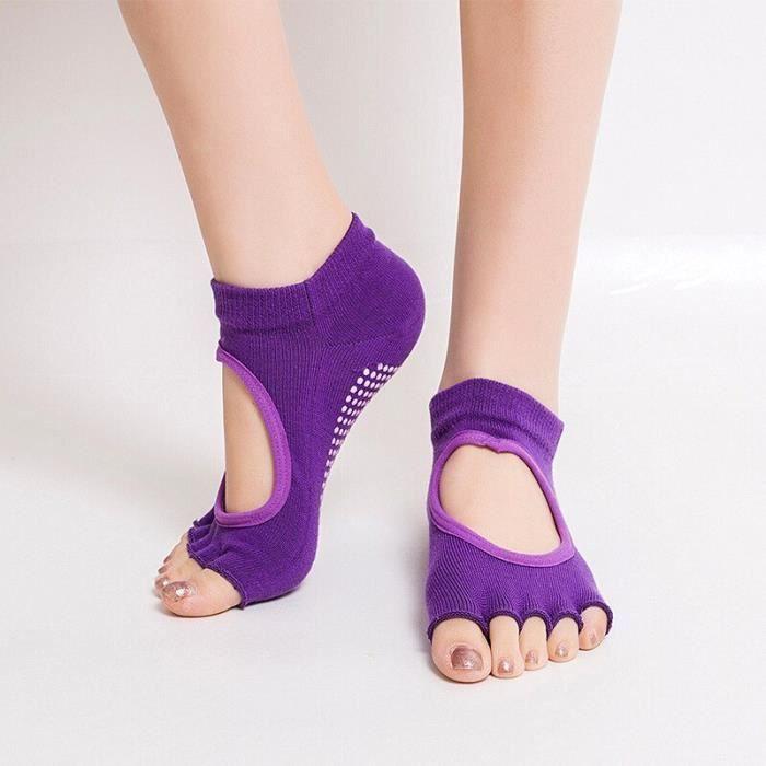 Accessoires Fitness - Musculation,Chaussettes de Yoga pour femmes chaussettes de coton de sport chaussettes - Type VIOLET-34-39