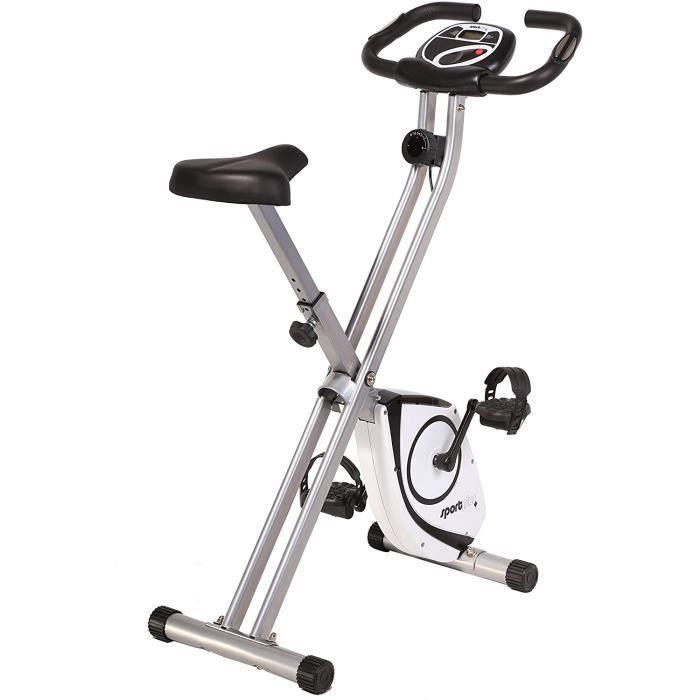 SportPlus - Vélo d'Appartement - Pliable et ultra compact - Plusieurs Modèles disponibles - de 8 à 24 Niveaux de Résistance - Capteu