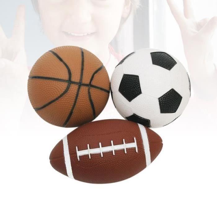 3pcs mini ballons mous de sport de rugby de football de de basket-ball pour des enfants faveurs d'enfants VOLANT DE BADMINTON