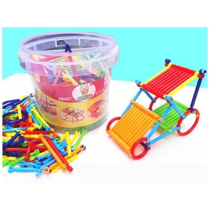 Bâtons Plastiques de Construction 3D Enfants Blocs de Construction Jeu de Construction @SHE