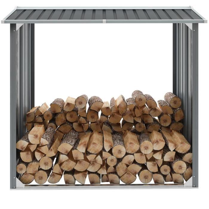 :)59483 GRAND Abri de jardin de bois Abri de jardin ECONOMIQUE Abri à outils de jardin Acier galvanisé 172x91x154 cm Gris