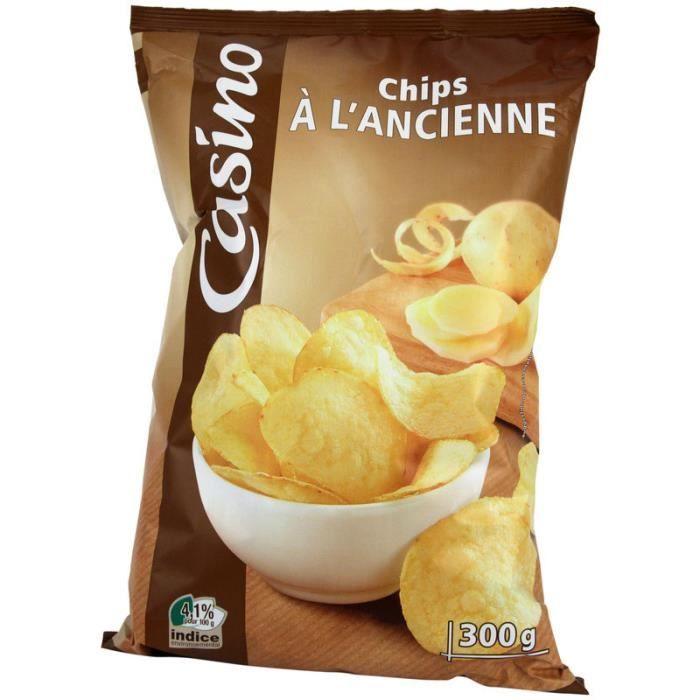Chips à l'ancienne - Pomme de terre - Huile de tournesol - 300g