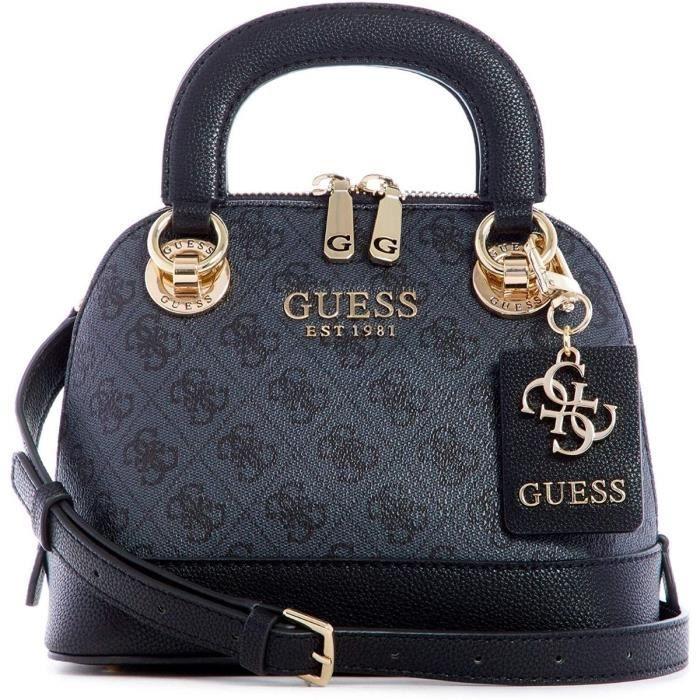 sacs portés main cathleen small dome satchel femme guess hwsg77 37050 Coal