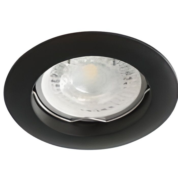 Support Spot Encastrable Rond VIDI Noir Mat