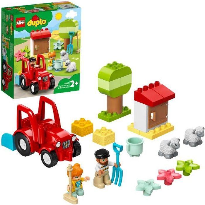 LEGO® 10950 DUPLO® Town Le Tracteur et Les Animaux Jouet avec Figurine du Mouton pour Enfant de 2 ans et +