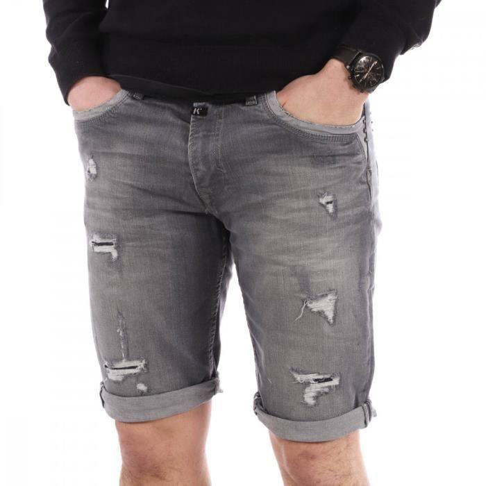 Short jeans gris homme Kaporal Man Shorts