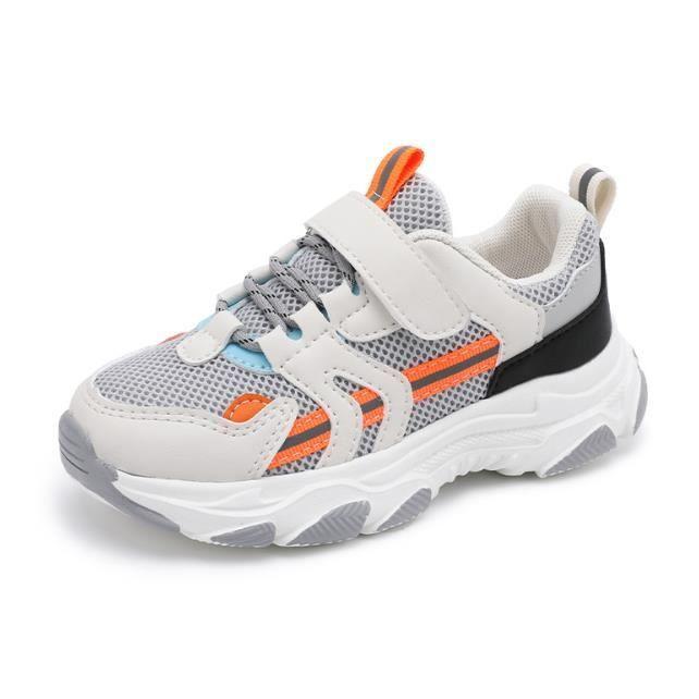 YOUknow-Mode Chaussures de Basket Pour Enfant Fille Semelle souple de style gelée-Taille 27-37 avec Velcro-Semelle épaisse