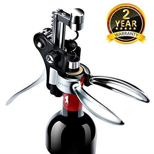 Tire Bouchon de Vin Coffret - Rapide et Facile à Utiliser Alliage de Zinc Inoxydable et Incassable Kit d'Ouvre-Bouteilles