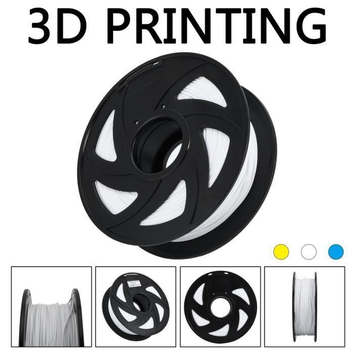 1.75Mm Pla Fil à Imprimante 3D 1kg Filament de 3D Imprimante Blanc