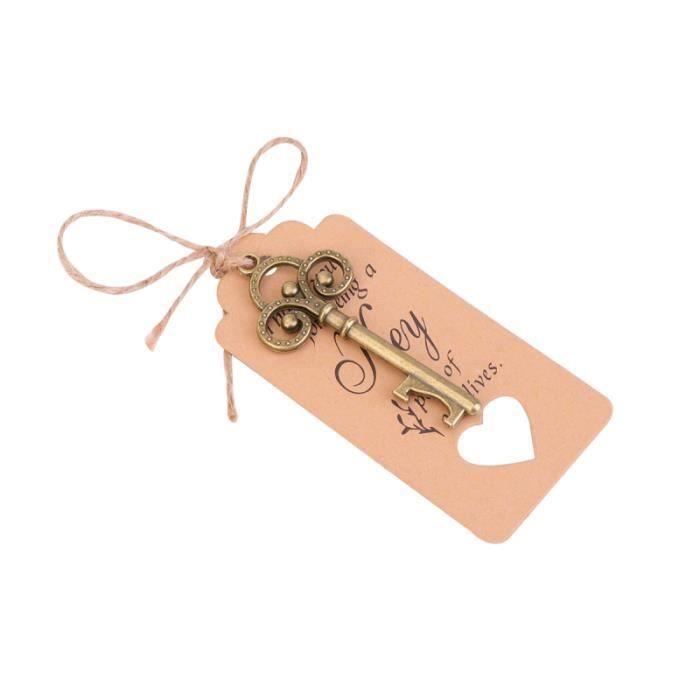 20 pièces étiquette clé ouvre-bouteille rétro de mariage délicat pendentif décoratif pour TIRE-BOUCHON - DECAPSULEUR - LIMONADIER