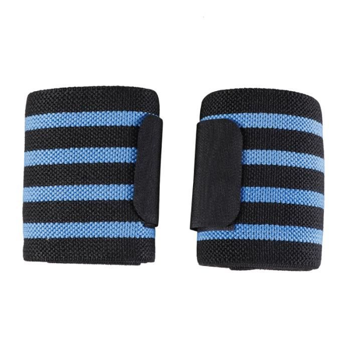 2 bracelets PCS pour utilisation sportive Bandes de transpiration haltérophilie Support de bande de poignet BRACELET DE FORCE