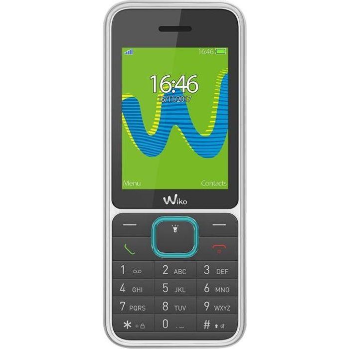 Wiko riff3, Barre, Double SIM, 6,1 cm (2.4-), Bluetooth, 800 mAh, Noir, Blanc