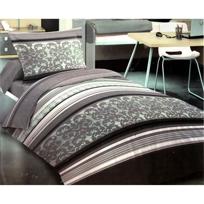 parure de draps 1 personne 100 coton 90x190 achat. Black Bedroom Furniture Sets. Home Design Ideas
