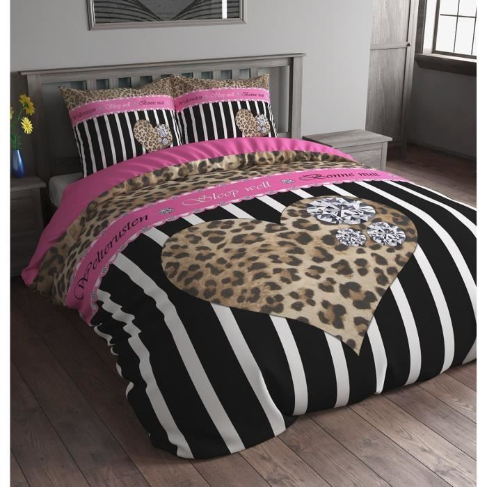 housse de couette leopard. Black Bedroom Furniture Sets. Home Design Ideas