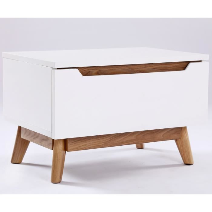 chevet table de chevet design scandinave aika blanc et ch
