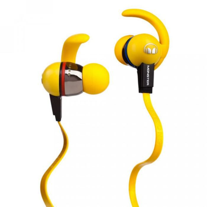couteurs intra auriculaires monster isport jaune casque. Black Bedroom Furniture Sets. Home Design Ideas