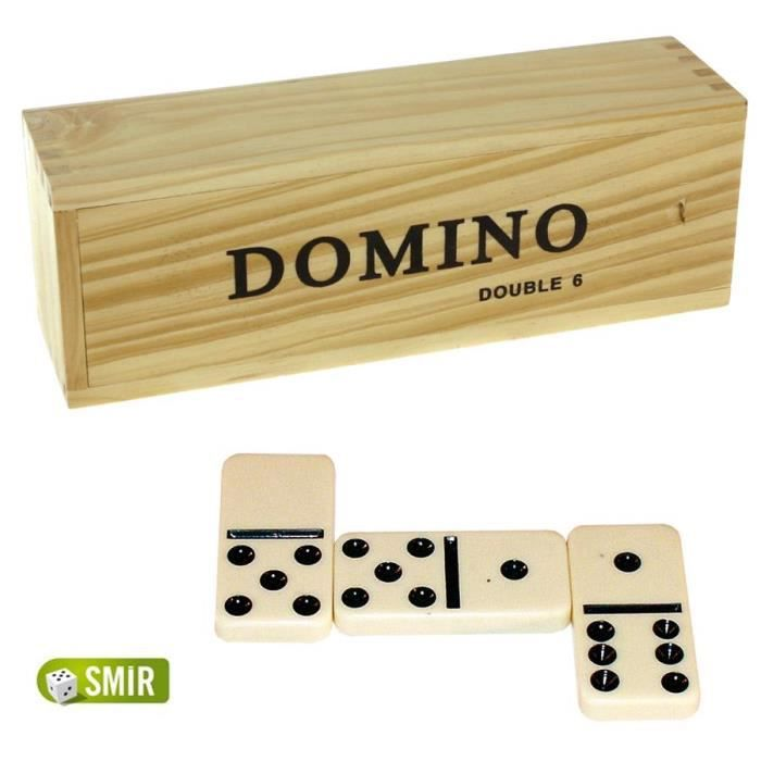 dominos double 6 jeu de societe coffret jeu de achat vente dominos cdiscount. Black Bedroom Furniture Sets. Home Design Ideas