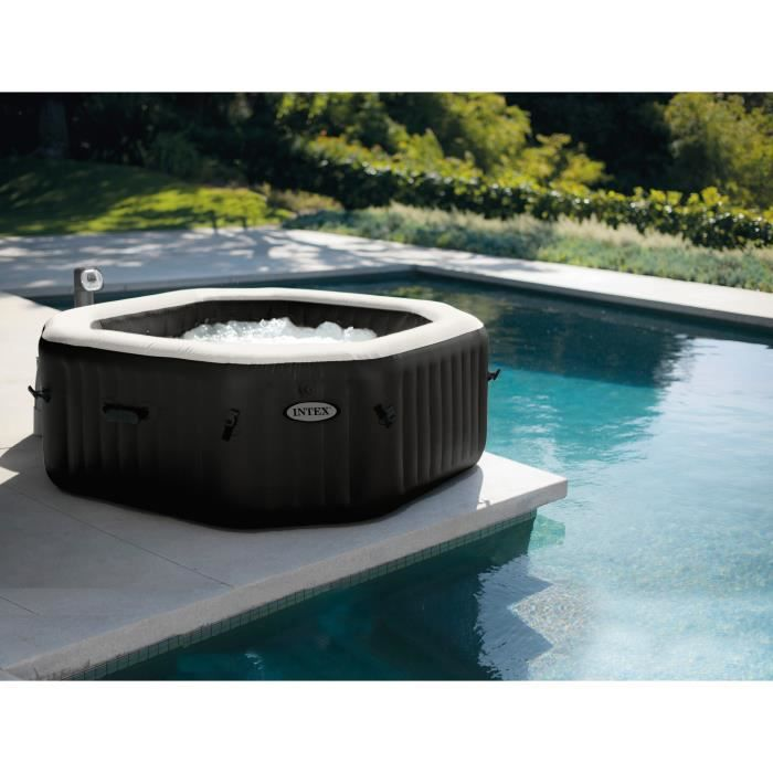 jacuzzi cdiscount INTEX Pure spa 6 places octogonal bulles et jets