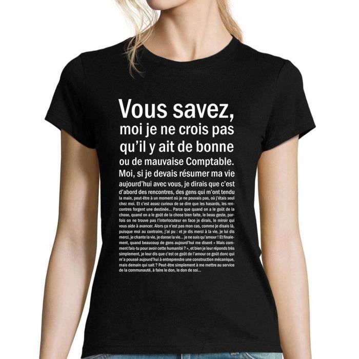 T-SHIRT Comptable   T-shirt Femme bonne ou mauvaise   Asté