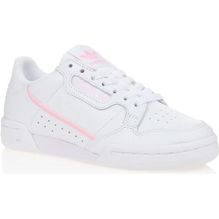 ADIDAS ORIGINALS Baskets CONTINENTAL 80 FEMME BLANC/ROSE