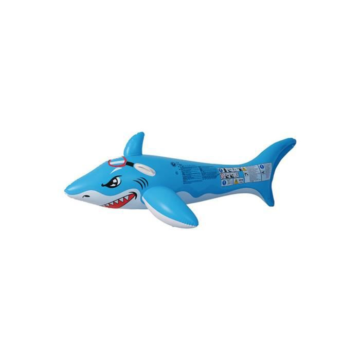 JEUX DE PISCINE Requin gonflable grand modèle bleu